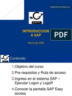 Introduccion a SAP