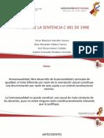 Exposición Constitucional Sentencia C-481 de 1998