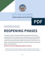 Atlanta Mayor's Plan for Reopening