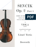 Oskar Sevcik School of Bowing Technique Viola Studies - Op 2 Part 1