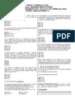 F y Q 3º ESO (6). TEST Conceptos Fundamentales. Cálculo de Fórmulas. Mol. Gases. Disoluciones.