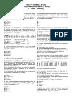 F y Q 3º ESO (9).  TEST Finales (Junio y Septiembre).