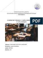 cahier de charge Cafe & Restaurant l'Atlantique