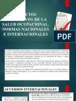 ASPECTOS NORMATIVOS DE LA SALUD OCUPACIONAL- CLASE 2