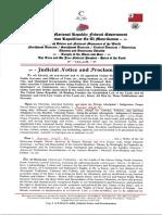 Amer Aqif El Judicial Notice and Proclamation