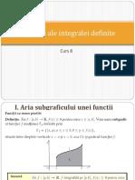 C8. Aplicații ale integralei definite!