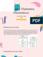 sockets y elementos electronicos