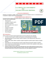 Folleto Feria ciencias 2019