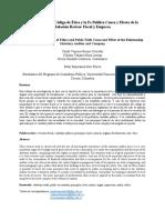 Revisoría Fiscal, Código de Ética y la Fe Publica Causa y Efecto de la Relación Revisor Fiscal y Empresa