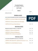 Curación Esotérica indice resumido