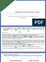 Unidad 1. Descripción y caracterización física del agua.