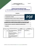 ITICS07 - B - Rédaction du domaine d'appplication du certificat