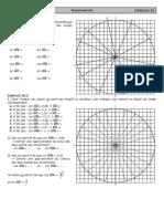 Ex 2A - Cercle trigonométrique - CORRIGE
