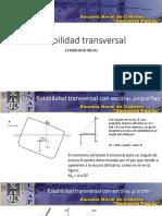 condiciones de equilibrio estabilidad transversal