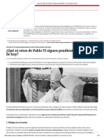 ¿Qué 10 Retos de Pablo VI Siguen Pendientes en El Mundo de Hoy