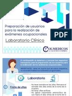 Preparación de usuarios para exámenes de Laboratorio Clínico