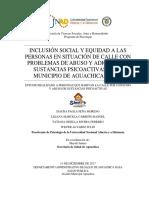 Programa Piloto de Inclusion Social Habitante de Calle Aguachica