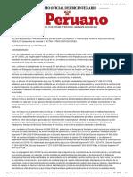 DECRETO DE URGENCIA - Nº 061-2020 - PODER EJECUTIVO - DECRETOS DE URGENCIA