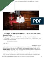 Congreso_ Plantean doble voto de confianza para el gabinete de Vicente Zeballos _ Política - La República