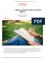 10 obras de privacidade e proteção de dados escritas por mulheres - JOTA Info