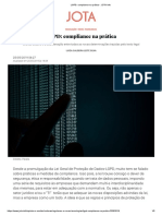 LGPD_ compliance na prática - JOTA Info