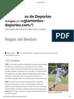 Béisbol - El Corredor