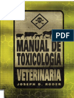 Manual de Toxicolog a Veterinaria