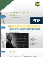 Referencia textual - elíptica