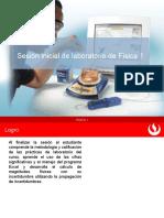 Diapositiva para la sesión inicial de laboratorio de Física 1 V2