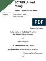 2020 BCSC 785 United States v. Meng