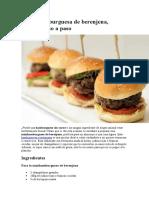 Receta de Minihamburguesa de berenjena