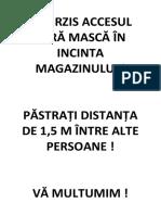 INTERZIS ACCESUL FĂRĂ MASCĂ ÎN INCINTA MAGAZINULUI.docx