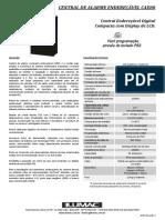Folheto Central Endereçável - CAE 80