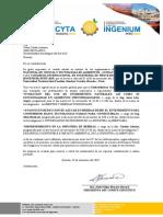 Carta Para Ponentes de Empresa Ism