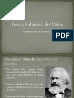 Teoria Subjetiva del Valor