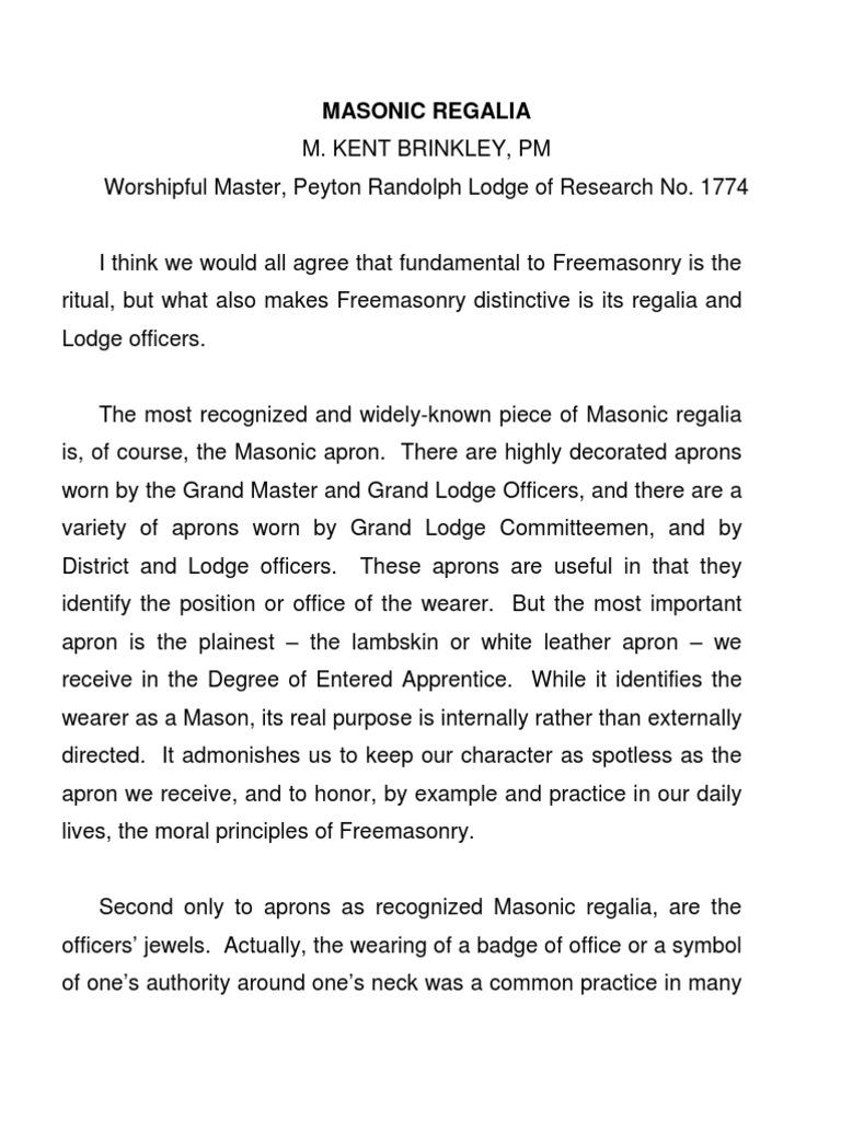 Masonic Regalia | Freemasonry | Masonic Lodge
