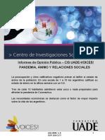 Informe Pandemia Ánimo y Relaciones Sociales - UADE- Voices!