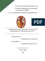 FACTORES DEL ECOSISTEMA EMPRESARIAL Y DESARROLLO DEL EMPRENDEDOR