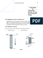 Trickle Bed Reactor, Process and Mechanical Design