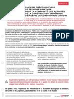 Guide de Preconisations Covid 19 Oppbtp mis à jour