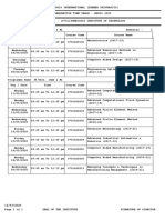 M Tech Time Table