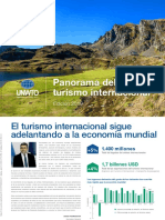 Panorama del turismo internacional 2019