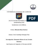 Elementos Básicos e un Circuito Eléctrico Jesus Rodrigues Pino
