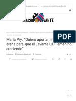 María Pry_ _Quiero aportar mi granito de arena para que el Levante UD Femenino siga creciendo_