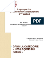 Prospection detection recrutement Athltisme 2011
