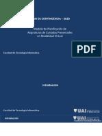 Modelo de Planificación de Asignaturas Presenciales en Modo Virtual