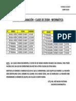 ROL DE PROGRAMACIÓN-ZOOM COLEGIO SANTA TERESITA