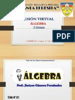 SESION VIRTUAL DE ÁLGEBRA 5° PRIMARIA - SIETE