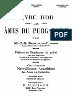 M. -J. -S. Benoit de J., Livre d'or des âmes du purgatoire