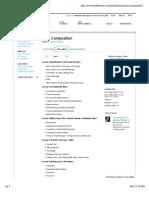 Jazz Composition - Syllabus